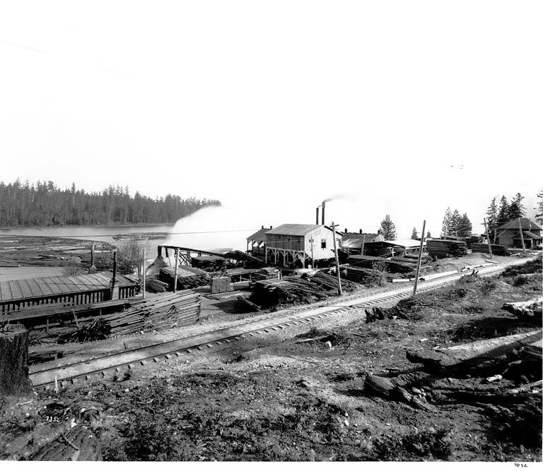 Great Western Lumber Company 1907 on west shore of Lake Ballinger