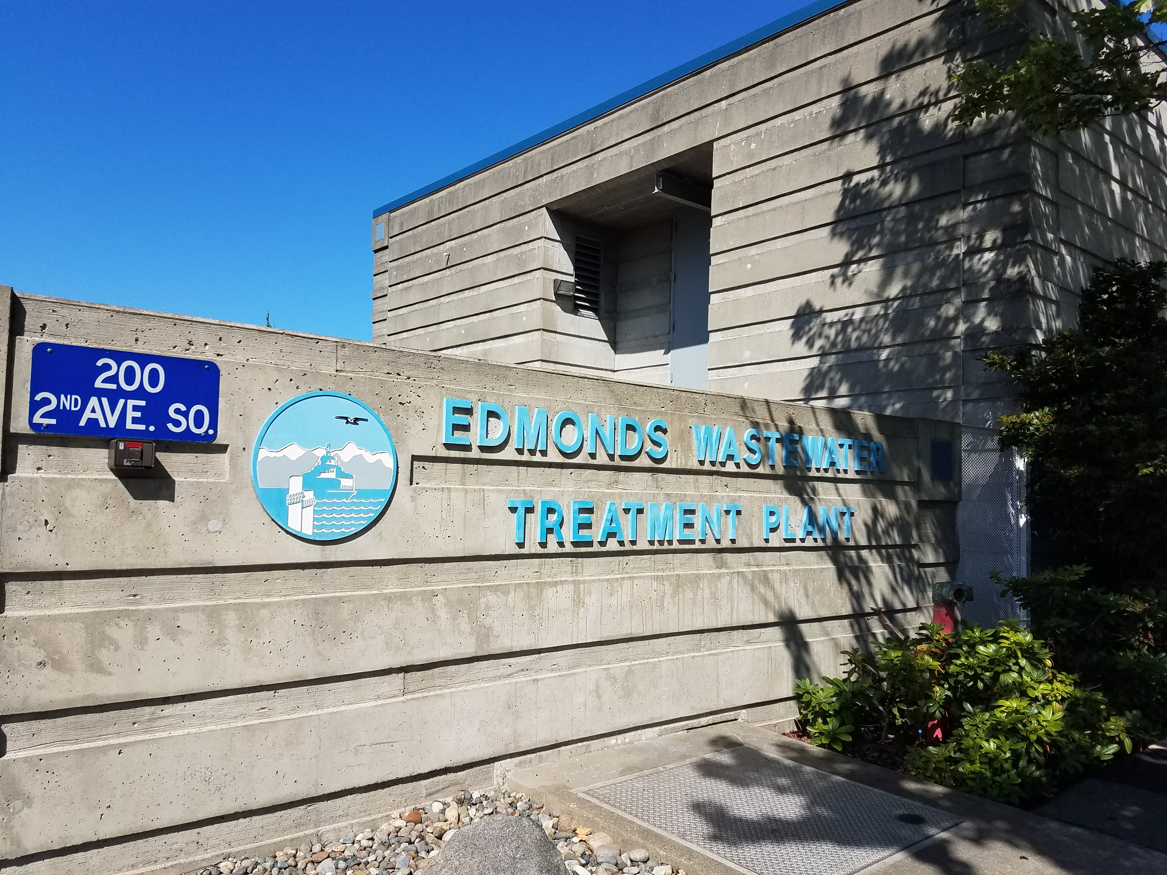 Edmonds Wastewater Treatment Plant Sign