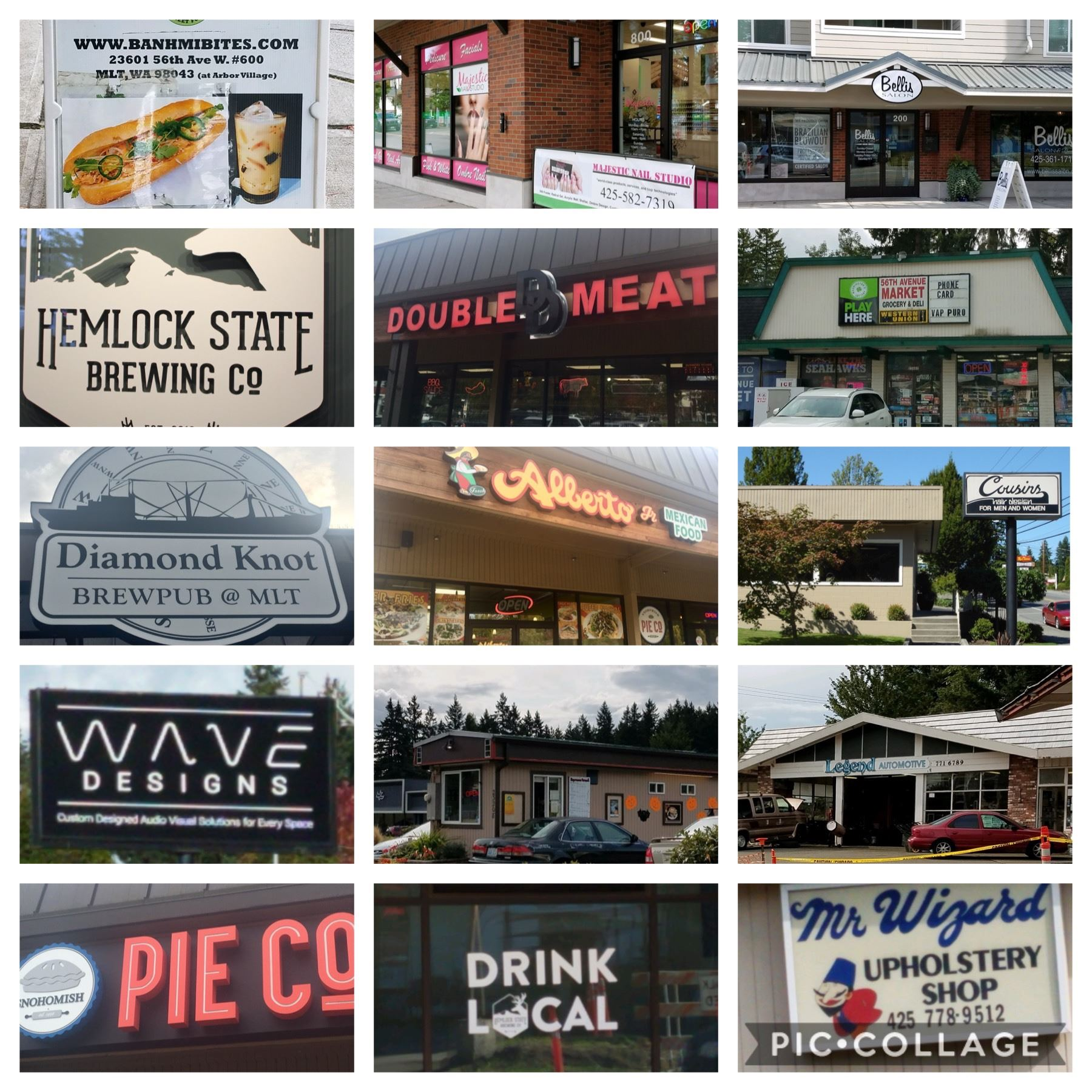 Photo Collage of MLT Businesses