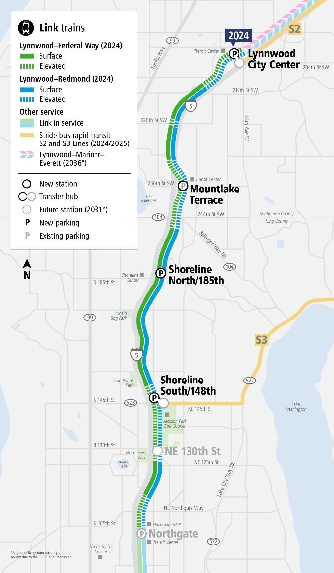 Lynnwood Link Project Map